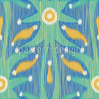 Ikat fresco Design de padrão vetorial sem costura
