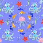 Tanz Des Meeres Vektor Ornament
