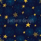 Schneeflocken Und Sterne Nahtloses Vektormuster
