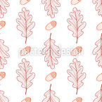Oak Leaves And Acorns Vector Design