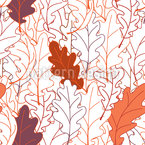 Bold Oak Leaves Repeat Pattern