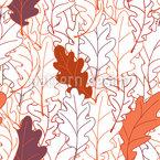 Mächtige Eichenblätter Nahtloses Vektormuster