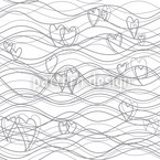 Heart Lenghts White Seamless Vector Pattern Design