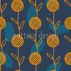 Common Raster Flower Seamless Vector Pattern Design