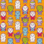 Creature Kids Seamless Vector Pattern Design