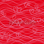Wavelenght Red Seamless Vector Pattern Design