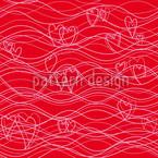 Wellenlängen Rot Nahtloses Vektormuster
