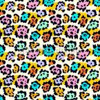 Süßer abstrakter Leopard Nahtloses Vektormuster