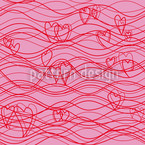 Wellenlängen Pink Nahtloses Vektormuster