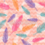 Colorful Feathers Seamless Vector Pattern Design