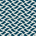 Wellen Im Retrostil Nahtloses Vektor Muster