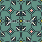 Palm Deco Seamless Vector Pattern Design