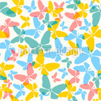 Butterfly Swarm Seamless Vector Pattern Design