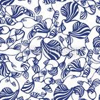 Shells Carpet Seamless Vector Pattern Design
