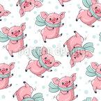 Niedliche Cartoon Schweine Vektor Muster
