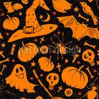 Dunkles Halloween Nahtloses Vektormuster