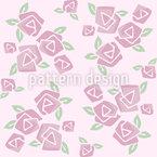 Kubistische Rosen Vektor Ornament