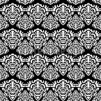 Balinesische Masken Muster Design