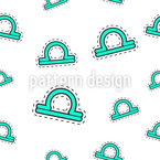 Libra Sign Seamless Vector Pattern Design