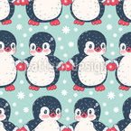 Penguin Buddies Seamless Vector Pattern Design