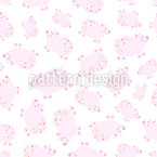 Cute Piglets Seamless Vector Pattern Design