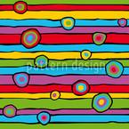 Fröhliche Streifen Und Kreise Designmuster