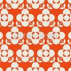 Summer Flowers In Retro Style Seamless Vector Pattern Design