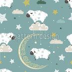 Estrelas Ovelhas Design de padrão vetorial sem costura