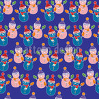 Colourful Snowman Design Pattern