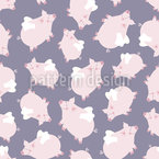 Pigs With Wings Vector Pattern