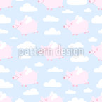 Flying Pigs And Clouds Vector Design