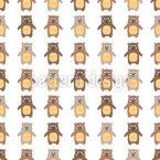 Lächelnde Teddybären Rapportiertes Design
