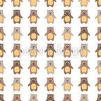 Smiling Teddy Bears Repeating Pattern