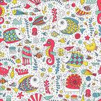 Unterwasserwelt mit Tieren Muster Design