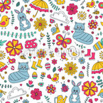 Springy Seamless Vector Pattern Design