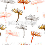Dandelions Fly Seamless Vector Pattern Design