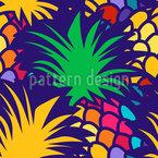 パイナップル・ナイト・パーティー シームレスなベクトルパターン設計