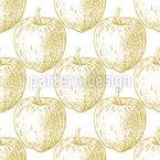 Золотые яблоки Бесшовный дизайн векторных узоров