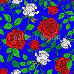 Flor de rosas Estampado Vectorial Sin Costura