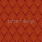 Ornamental Rhombus Seamless Vector Pattern Design