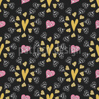 Lovely Little Hearts Repeat Pattern