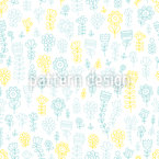 Meadow Flower Doodles Vector Pattern