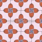 Retro Blumen Ordnung Vektor Design