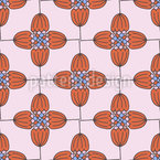 Retro Flower Order Seamless Vector Pattern Design