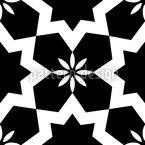 Schwarzweiße Sterne Nahtloses Vektormuster
