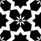 Stars Black and White Seamless Vector Pattern Design