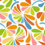 Fragmentos Florais Design de padrão vetorial sem costura