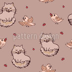 Cute Friends Seamless Vector Pattern Design