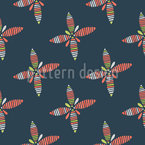 Striped Flowers Seamless Vector Pattern Design
