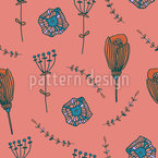 Doodle Petals Seamless Vector Pattern Design